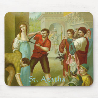 St. Agatha (M 003) Mouse Pad