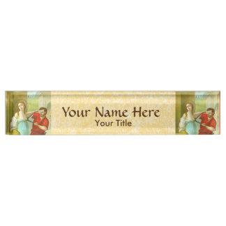 St. Agatha (M 003) Nameplate