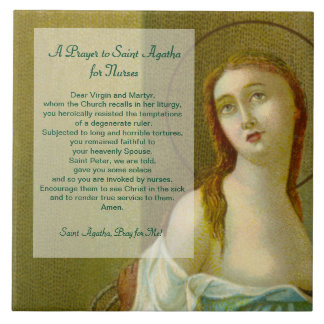 St. Agatha (M 003) Prayer for Nurses Tile