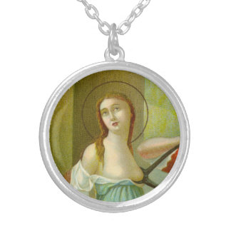 St. Agatha (M 003) Silver Plated Necklace