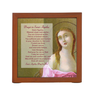 St. Agatha (M 003) with Prayer Desk Organizer