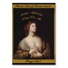 St Agatha Pray For Me - Prayer Card - Patron Saint