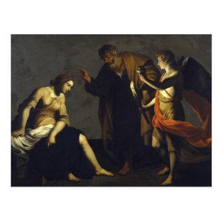 St. Agatha w/St. Peter & Angel - Alessandro Turchi Postcard