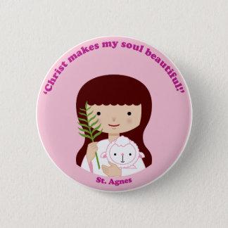 St. Agnes 2 Inch Round Button