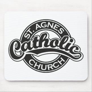 St Agnes Catholic Church Black Mouse Pad