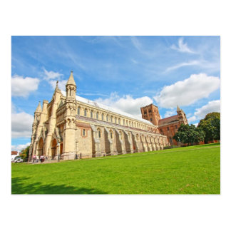 St Albans Cathedral, England, postcard