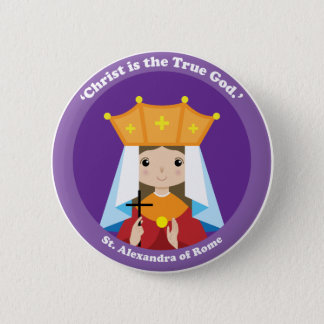 St. Alexandra of Rome 2 Inch Round Button