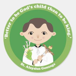 St. Aloysius Gonzaga Classic Round Sticker