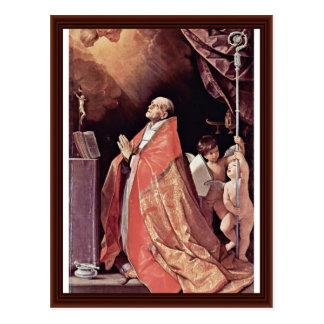 St. Andrew Corsini In Prayer By Reni Guido Postcard