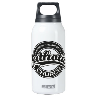 St. Andrew the Apostle Catholic Church Black Insulated Water Bottle