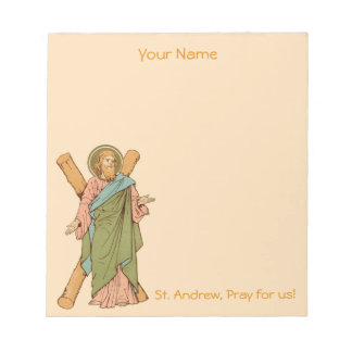 """+St. Andrew the Apostle (RLS 01) 5.5""""x6"""" Notepad"""