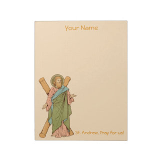 """St. Andrew the Apostle (RLS 01) 8.5""""x11"""" Notepad"""