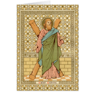 St. Andrew the Apostle (RLS 01) Blank Greeting Card