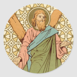 St. Andrew the Apostle (RLS 01) Classic Round Sticker
