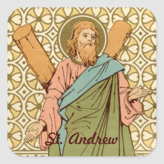 St. Andrew the Apostle (RLS 01) Square Sticker