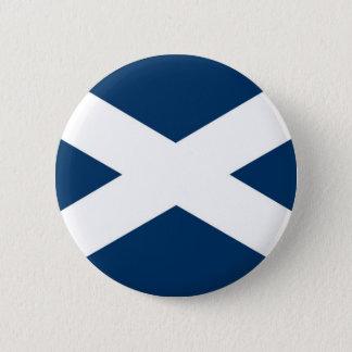 St Andrews Cross 2 Inch Round Button