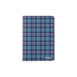 St Andrews Scotland District Tartan Monogram Passport Holder