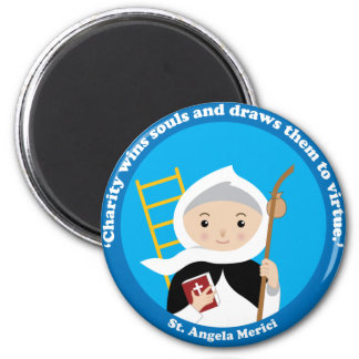 St. Angela Merici 2 Inch Round Magnet