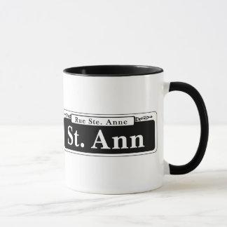 St. Ann St., New Orleans Street Sign Mug