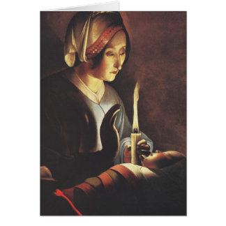 St Anna avec le bébé Jésus par les grands maîtres Carte De Vœux