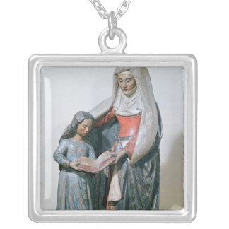St. Anne and the Virgin, 1500-30 Silver Plated Necklace