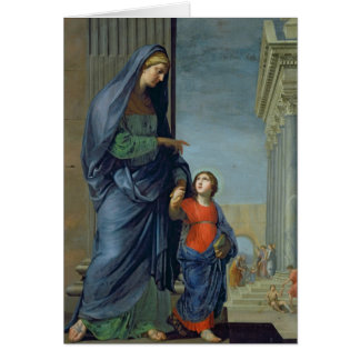 St. Anne Leading the Virgin to the Temple Card