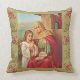 St. Anne Virgin Child Mary Grandmother Throw Pillow