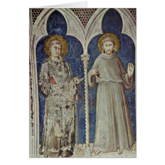 St. Anthony And St. Francis By Simone Martini Cards