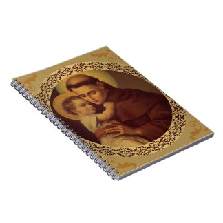 St. Anthony  & Child Jesus Decorative Border Notebook