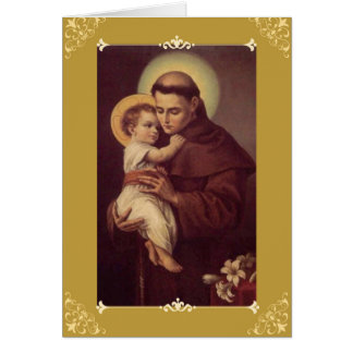 St. Anthony Greeting/Note Card w/prayer