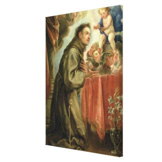 St. Anthony of Padua  adoring the Christ Child Canvas Print