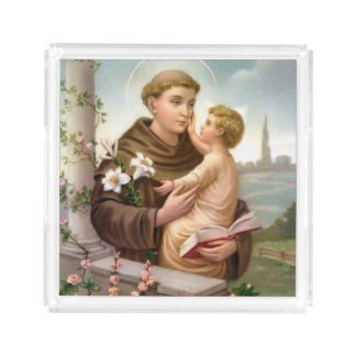 St. Anthony of Padua Baby Jesus Acrylic Tray