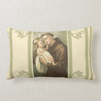 St. Anthony of Padua &  Baby Jesus Lumbar Pillow