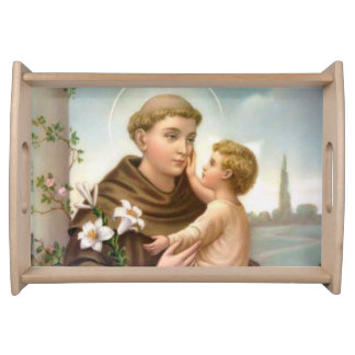 St. Anthony of Padua Baby Jesus Serving Tray