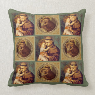 St. Anthony of Padua Baby Jesus Throw Pillow