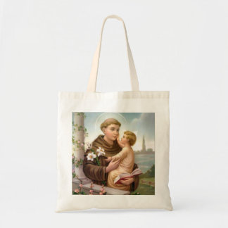 St. Anthony of Padua Baby Jesus Tote Bag