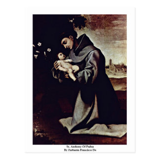 St. Anthony Of Padua By Zurbarán Francisco De Postcard