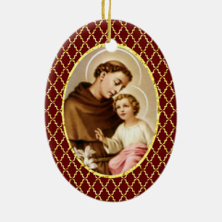 St. Anthony of Padua Ceramic Ornament