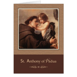 St. Anthony of Padua Pray For Us Card