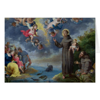St. Anthony of Padua Preaching to the Fish Card
