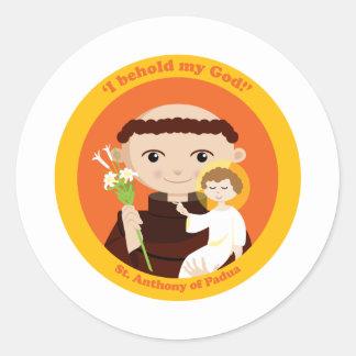St. Anthony of Padua Round Sticker