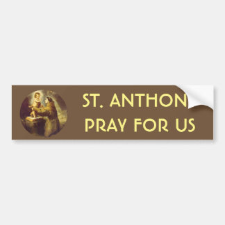 St. Anthony of Padua with Baby Jesus Bumper Sticker