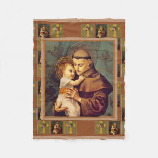 St. Anthony of Padua with Baby Jesus Fleece Blanket