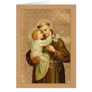St. Anthony of Padua with Baby Jesus Lily Card