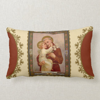 St. Anthony of Padua with Baby Jesus Lumbar Pillow