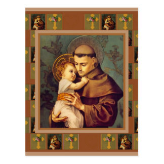 St. Anthony of Padua with Baby Jesus Postcard