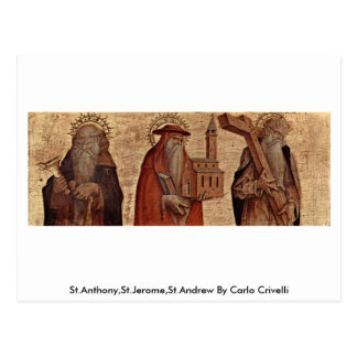 St.Anthony,St.Jerome,St.Andrew By Carlo Crivelli Postcard