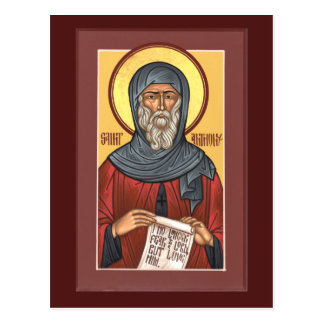 St. Anthony the Great Prayer Card Postcard
