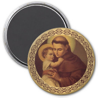 St. Anthony w/ Christ Child Jesus Magnet