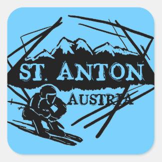 St. Anton Austria blue ski logo stickers